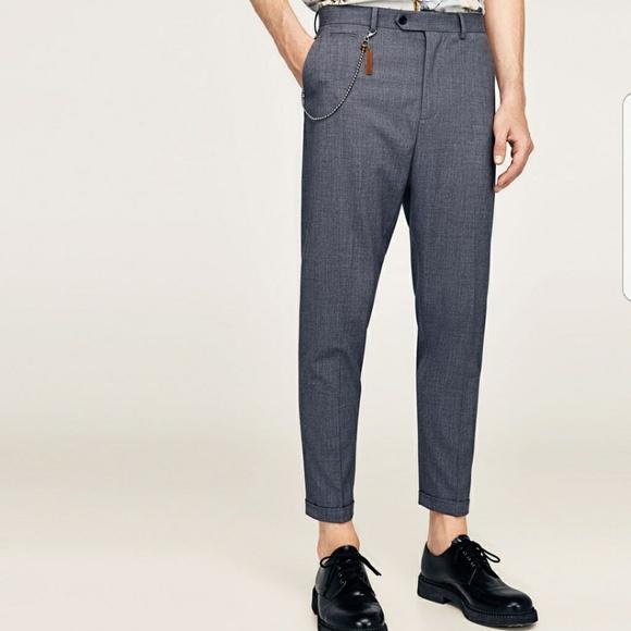 f56b4155 Zara Pants   Hp Man Gray Carrot Fit Dress 36   Poshmark
